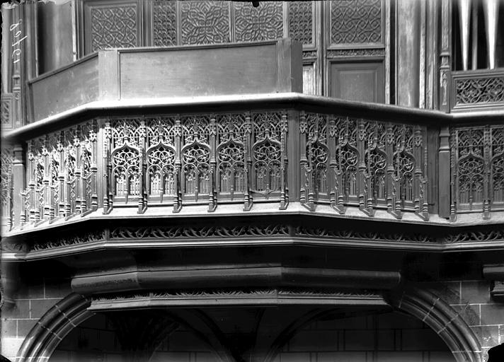 Tribune des orgues, détail
