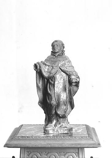 Statuette : un saint trinitaire (saint Jean de Matha ?)