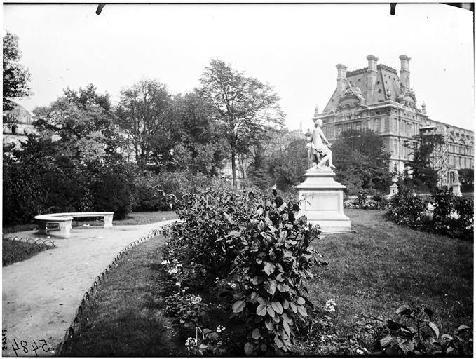 Pavillon de Marsan : Jardin des Tuileries, jardin du Carrousel