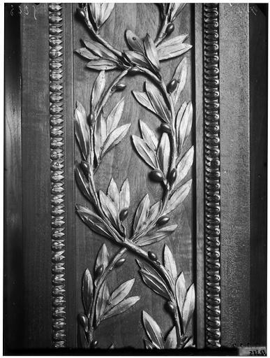 Sculpture du lambris