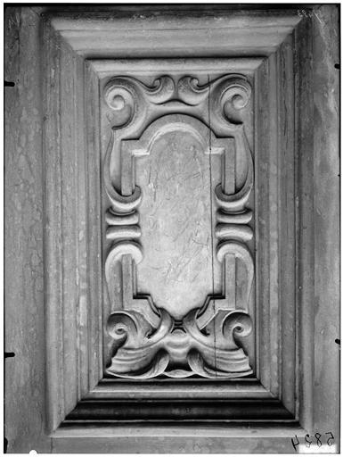 Sculpture, panneau de porte
