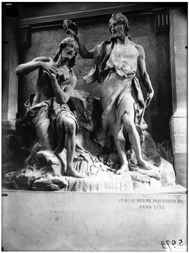 Baptême du Christ, groupe sculpté