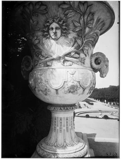Escalier de Latone : vase aux soleils