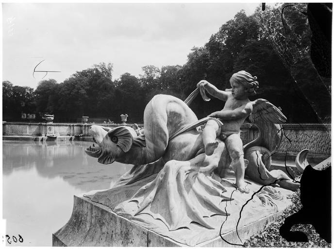 Bassin de Neptune : groupe sculpté