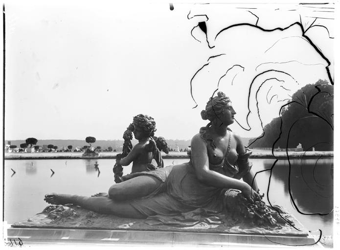 Parterre d'eau, bassin du Midi : groupe sculpté