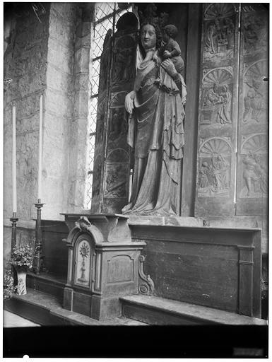 Statue d'autel : Vierge à l'Enfant