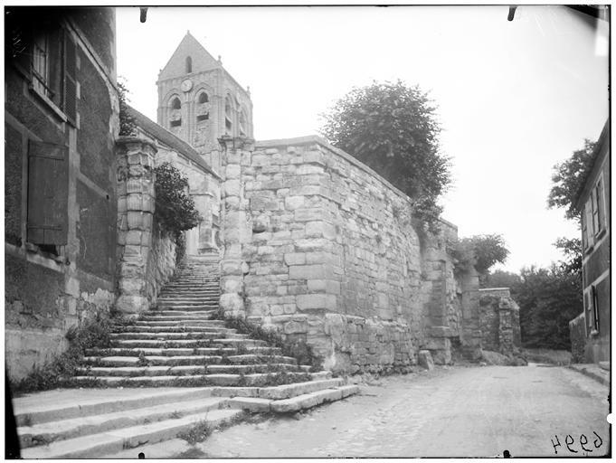 Vue de l'escalier du clocher
