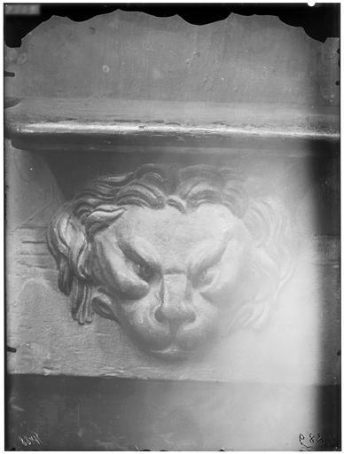 Miséricorde de stalle : tête de lion