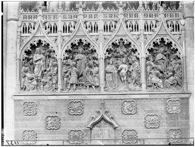 Histoire de saint Jean, saint Jean revelant sa mission, saint Jean montrant l'agneau divin, le baptême du Christ, prédication