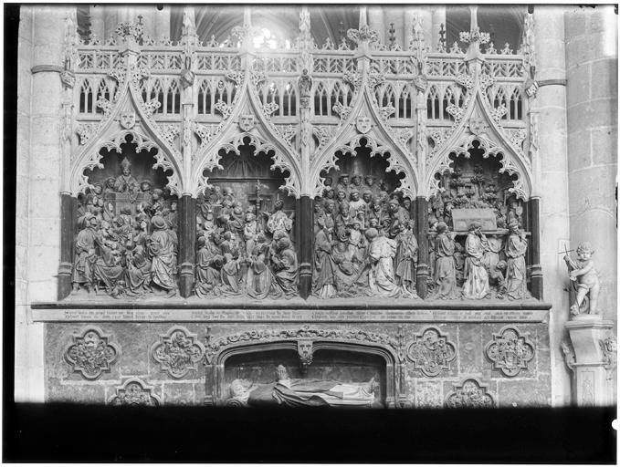 Vie de saint Firmin : statue gisante d'Adrien de Hénencourt