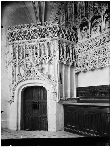 Détail d'une porte, salle de la trésorerie