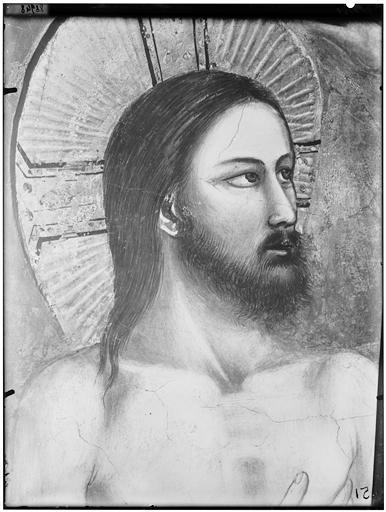 Peinture : tête de Jésus