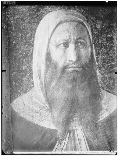 Peinture : portrait d'homme âgé