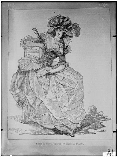 Portrait de jeune femme, exposé en 1878 au Trocadéro