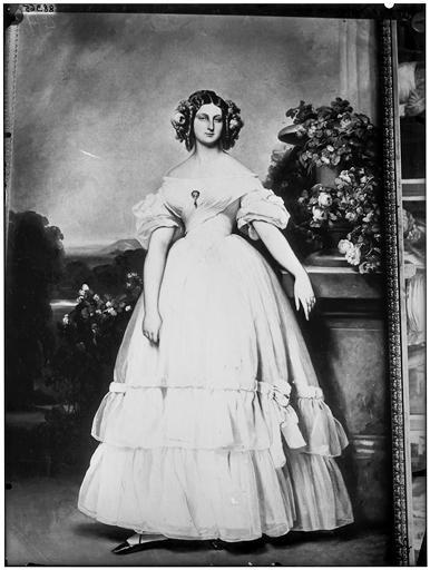 Peinture : portrait d'une jeune femme