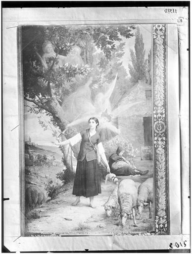 Peinture murale : Vision de Jeanne d'Arc