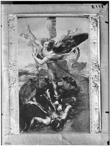 Peinture : saint Michel terrassant le dragon