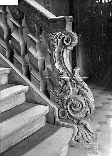 Escalier : Départ de la rampe