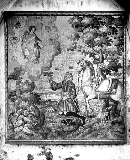 Pièce murale : la Vierge à l'Enfant apparaissant à Charles d'Aubusson