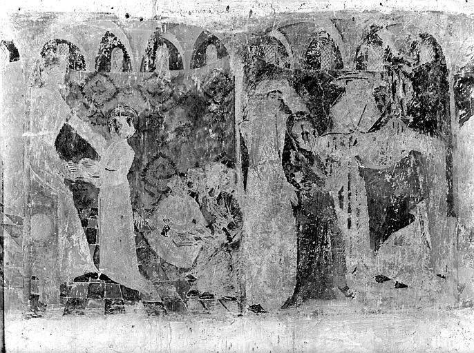 Peintures monumentales de la nef : vie de saint Genoulph (la)