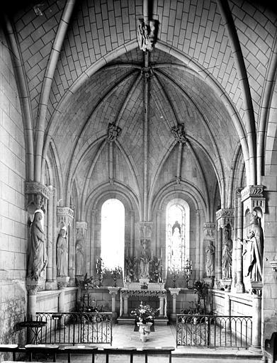 Vue intérieure de la chapelle absidale nord