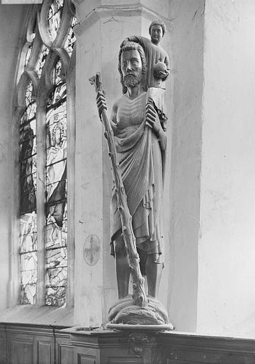 Statue : Saint Christophe portant l'Enfant Jésus