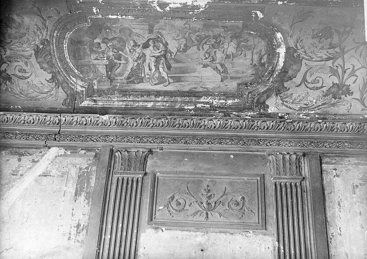 Intérieur des pièces classées, boiseries et peintures