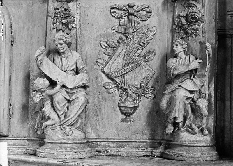 Evangélistes, détail de l'autel