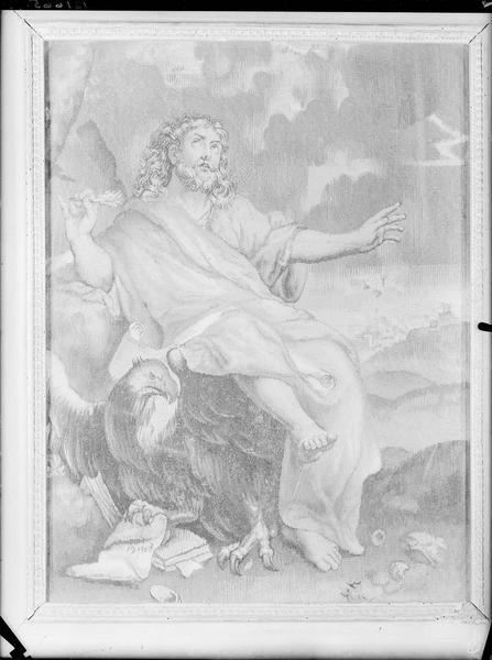 Saint Jean l'Evangéliste, tapisserie encadrée