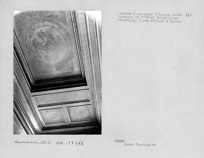 Plafond à caissons d'époque Louis XIV