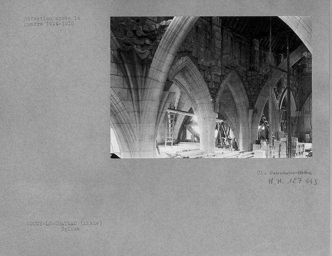 Réfection des voûtes après la première guerre mondiale