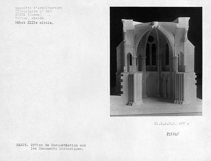 Maquette de l'abside