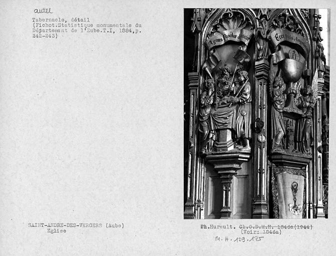 Autel, détail du tabernacle