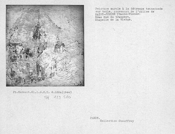 Peinture murale transposée sur toile