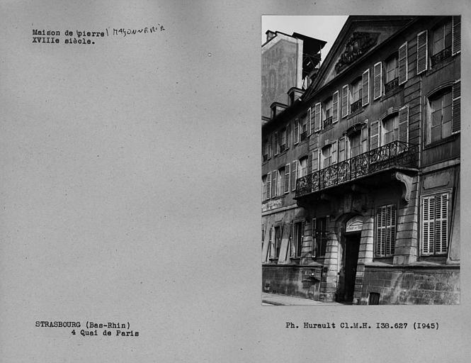 Partie centrale de la façade