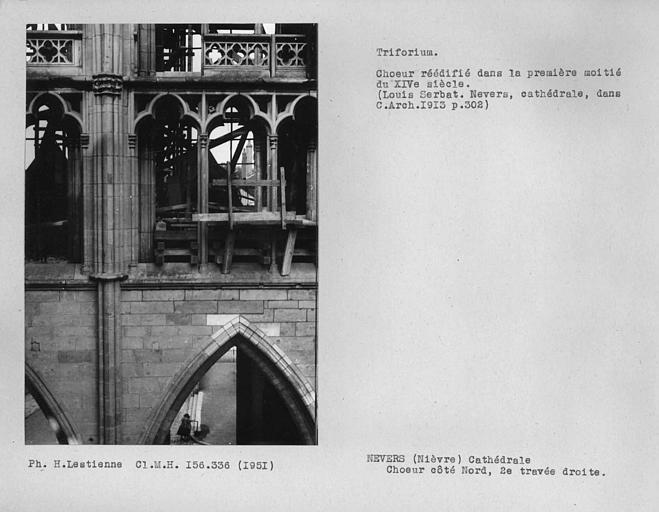 Triforium de la première travée du côté nord du choeur