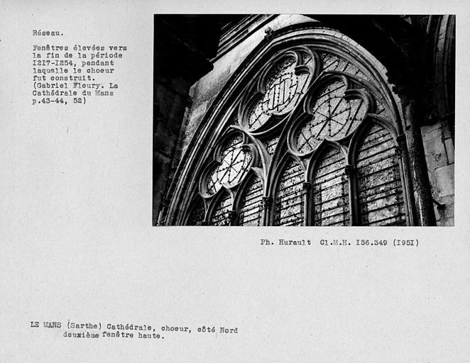 Fenestrage du choeur, deuxième fenêtre haute du côté nord
