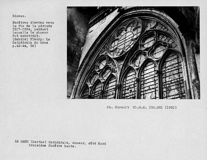 Fenestrage du choeur, troisième fenêtre haute du côté nord