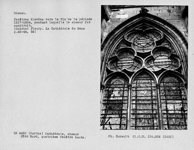 Fenestrage du choeur, quatrième fenêtre haute du côté nord