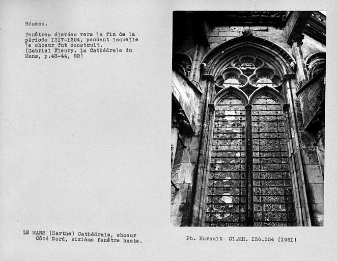 Fenestrage du choeur, sixième fenêtre haute du côté nord