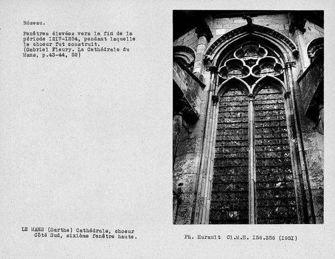 Fenestrage du choeur, sixième fenêtre haute du côté sud