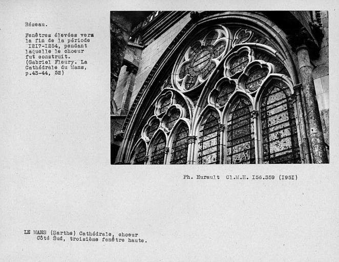 Fenestrage du choeur, troisième fenêtre haute du côté sud