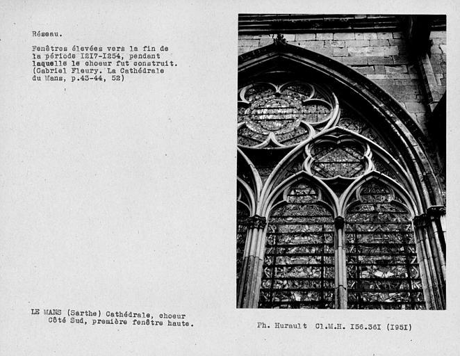 Fenestrage du choeur, première fenêtre haute du côté sud