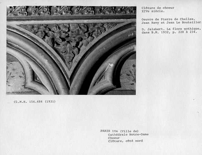 Clôture du choeur côté nord, détail des sculptures