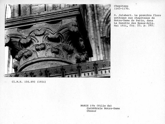 Chapiteau de colonne du choeur
