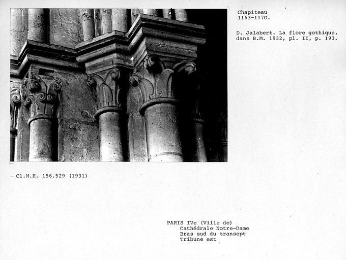 Chapiteaux de la tribune est, bras sud du transept