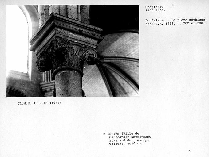 Chapiteau de la tribune est, bras sud du transept