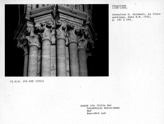 Chapiteaux du collatéral sud de la nef