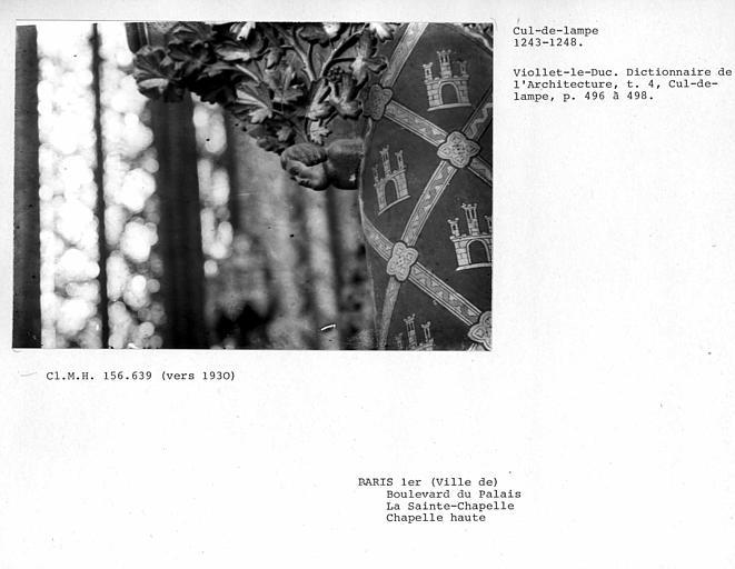 Cul-de-lampe de socle de la chapelle haute