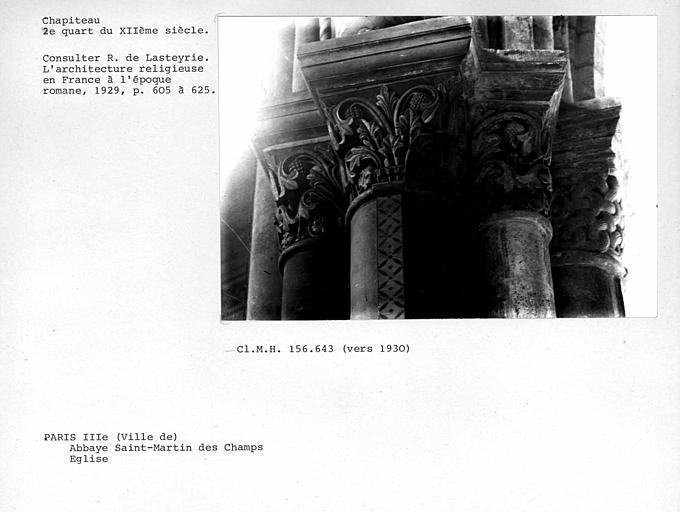 Chapiteaux de l'église